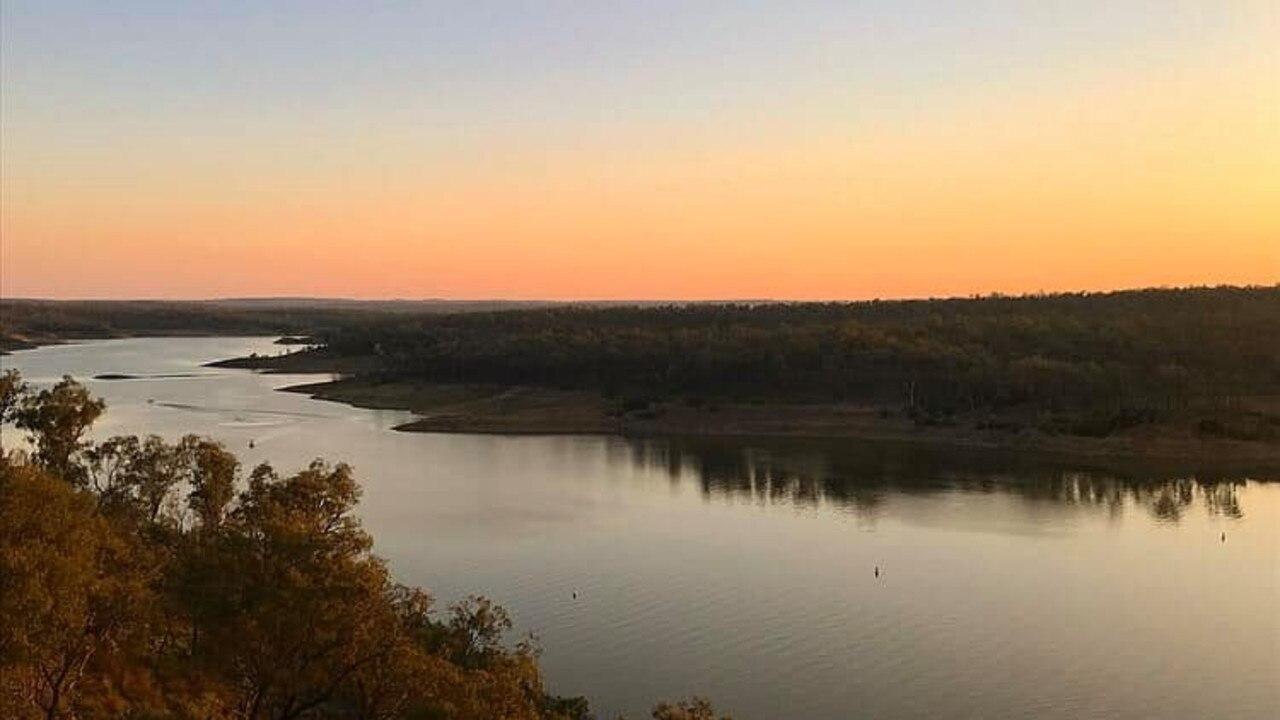The sun setting over Boondooma Dam (Photo: Marguerite Cuddihy)