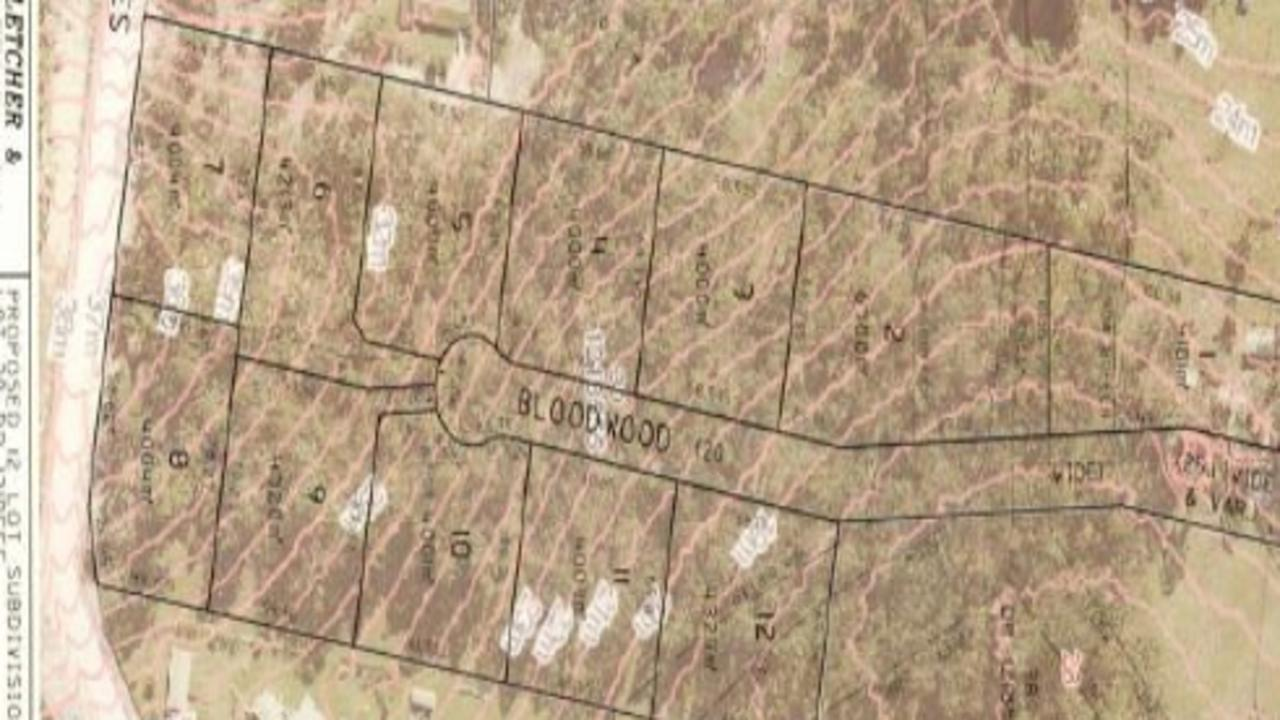 The location of the subdivision off between McIntyres Lane and Bloodwood Cl.