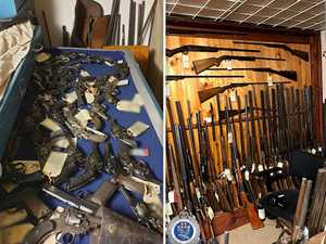 Over 700 guns found in 'Aladdin's cave' of firearms