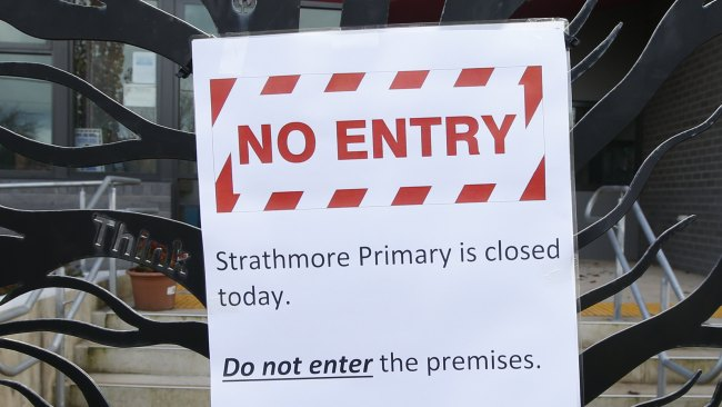 Strathmore Primary has been closed due to COVID-19. Picture: David Caird
