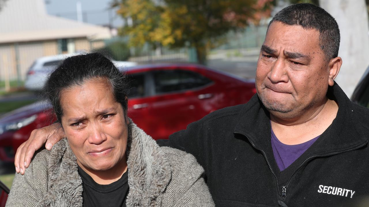 Solo's parents Solome and Atunaisa where he died. Taufeulungaki. Picture: David Crosling