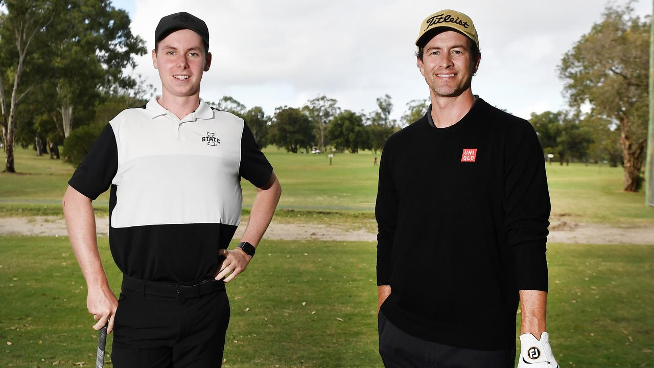 AT CALOUNDRA GOLF CLUB: Teenager Bailey Arnott has been refining his game, including rounds with Adam Scott. Photo Patrick Woods / Sunshine Coast Daily.