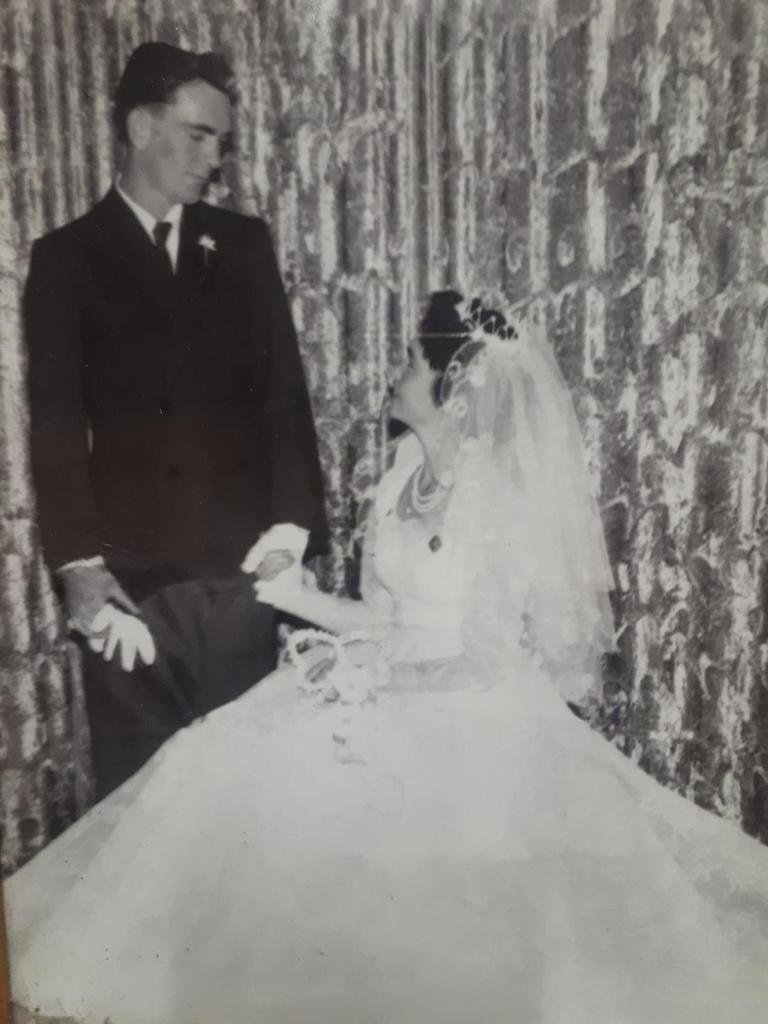 Ronald and Elizabeth Mitchell were married at Howard in 1960.