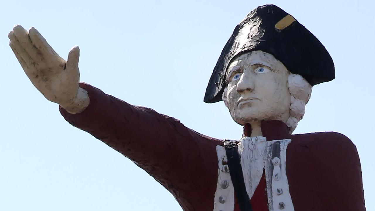 The controversial Captain Cook statue.