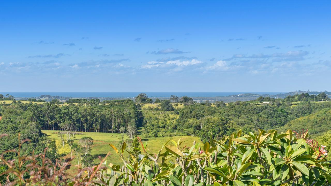 The lush rural outlook extends to the ocean between Byron Bay and Ballina.