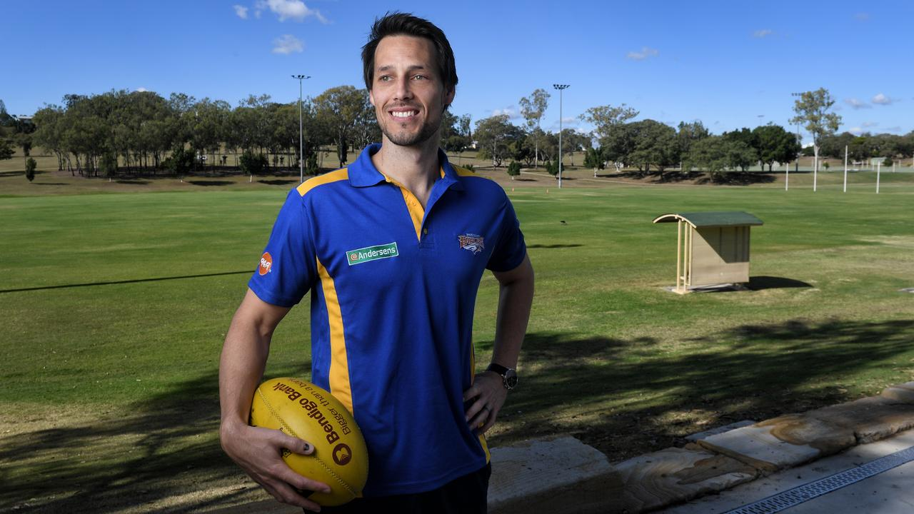 Ipswich Eagles Aussie rules captain Tyler Hall is settling into his new environment. Picture: Rob Williams