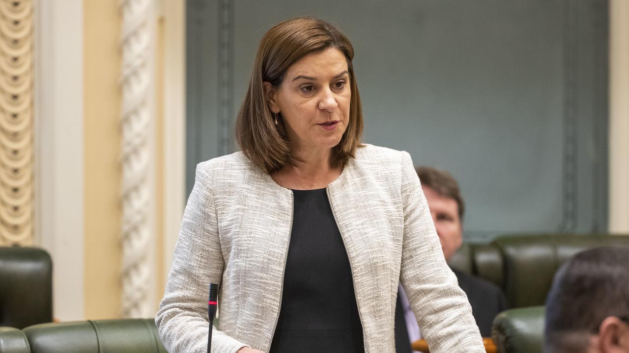 Queensland Opposition Leader Deb Frecklington in parliament.