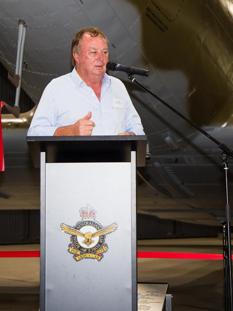 Ipswich Jets sponsor and former chairman Sandy Savige at the club's season launch. Picture: Erika Myer