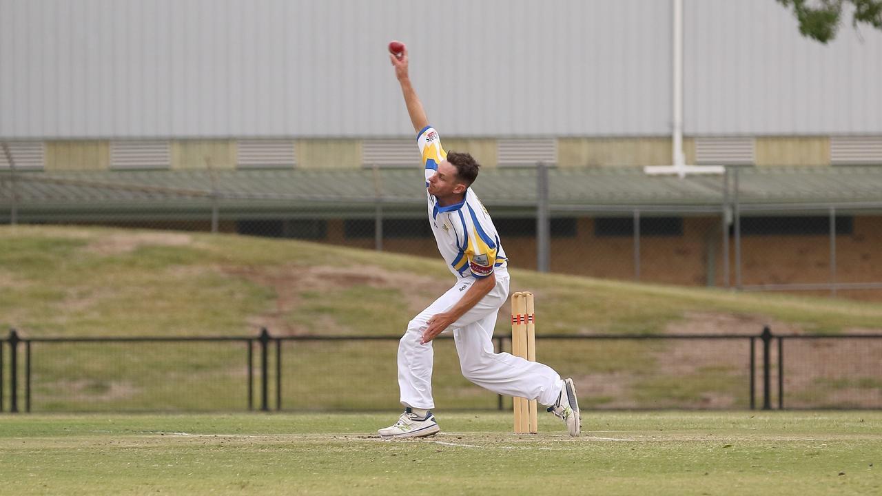 Marist Brothers opening bowler Brendan Mitchell. Photo Ursula Bentley@CapturedAus
