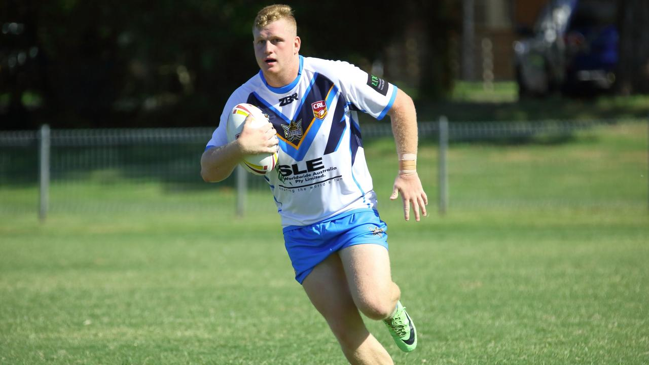 Kyogle winger Brock Westerman on the run for Northern Rivers in the NSW Country Rugby League championships last year. Photo Ursula Bentley@CapturedAus