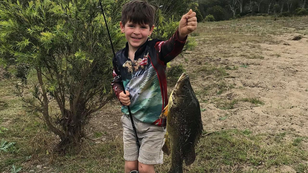 BIG CATCH: At only five years old, Maximus Montebello reeled in his first ever Yellow belly near Linville. (Picture: Contributed)