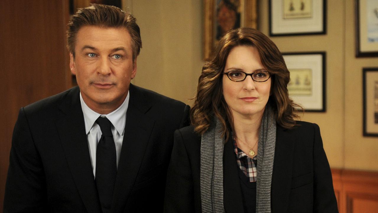 Alec Baldwin and Liz Lemon in 30 Rock. Picture: Ali Goldstein/AP/NBC