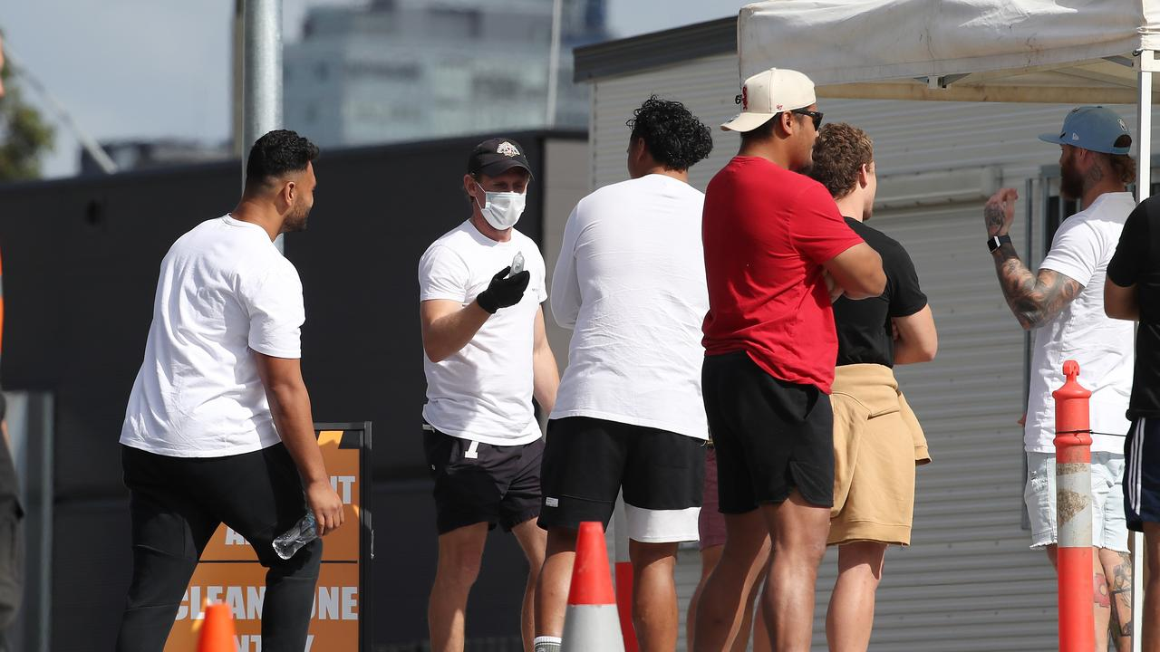Players have been subject to tough restrictions in order for the NRL to return. Picture: David Swift