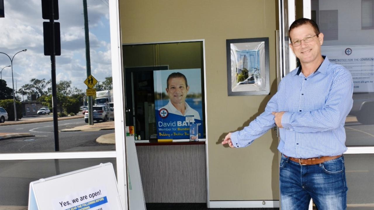 MEETING WITH MP: State Member for Bundaberg David Batt said while his office has been open to the public for some time, he is now able to book one-on-one meetings with the public again.