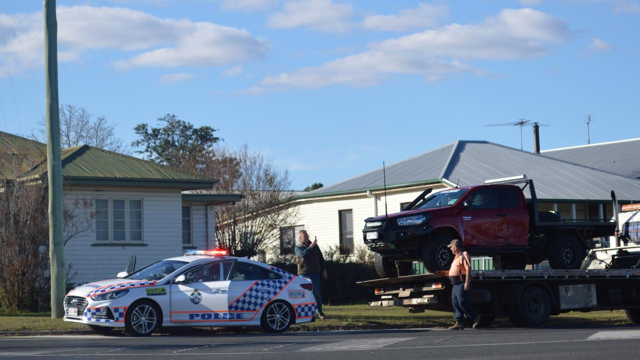 VEHICLE ROLLOVER: Crash at the Rosehill Rd and Victoria St intersection.