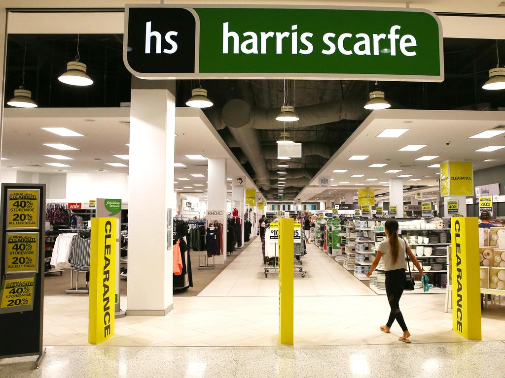 When Harris Scarfe went into administration it was taken on by new owners. Picture: Brendan Radke.