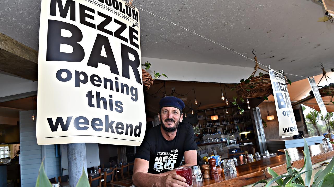 David Hadid pictured launching the Mezze Bar at Coolum. Photo: Warren Lynam