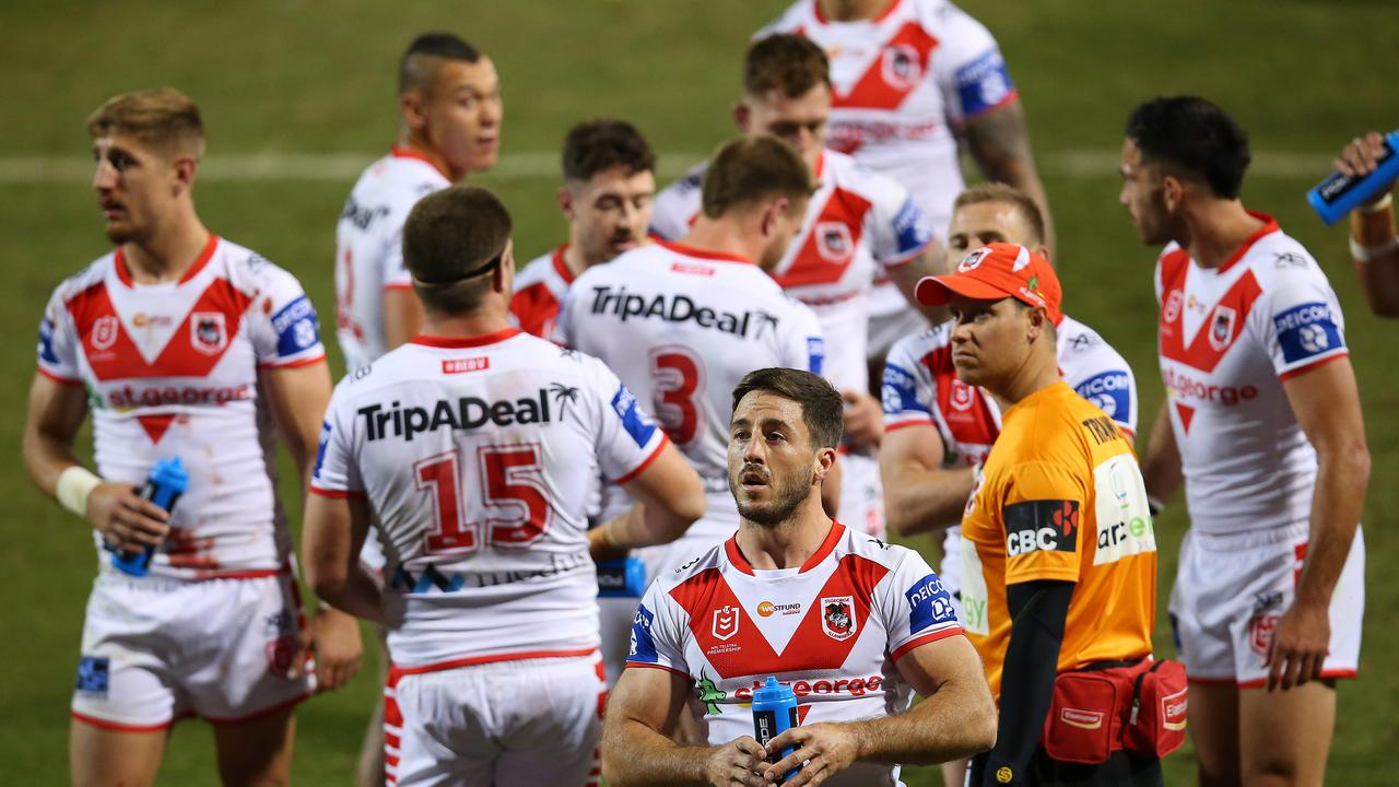 Ben Hunt wants to return to the halves. Picture: Jason McCawley/Getty