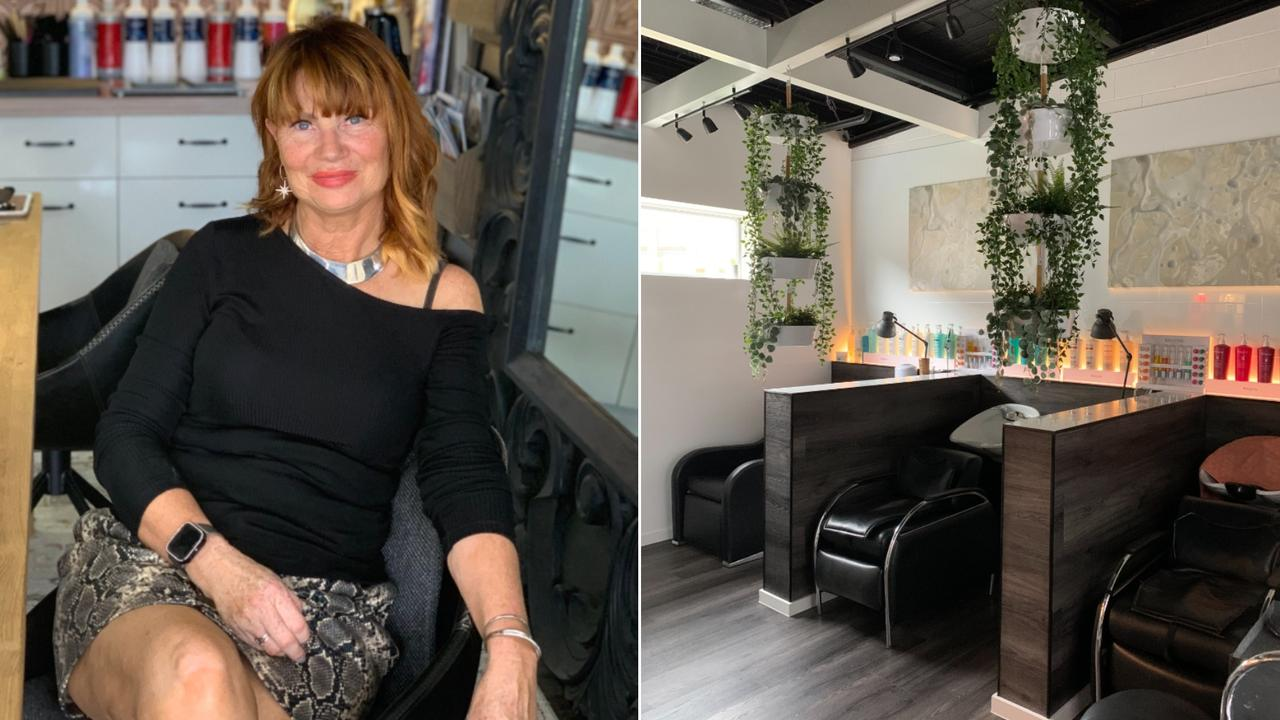 CUTTING EDGE: Tewantin's Fringe Hair has a new look and is ready to welcome customers post-coronavirus. Owner Penni Smith inside the salon.