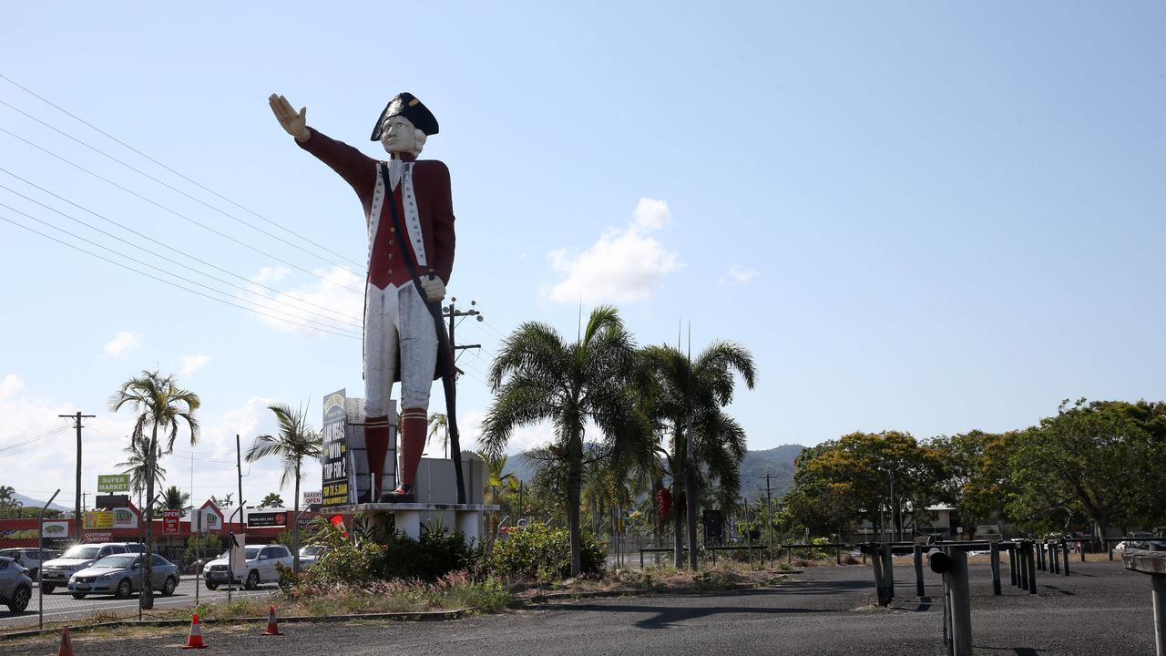 The Captain Cook statue on Sheridan St has divided the community. PICTURE: ANNA ROGERS