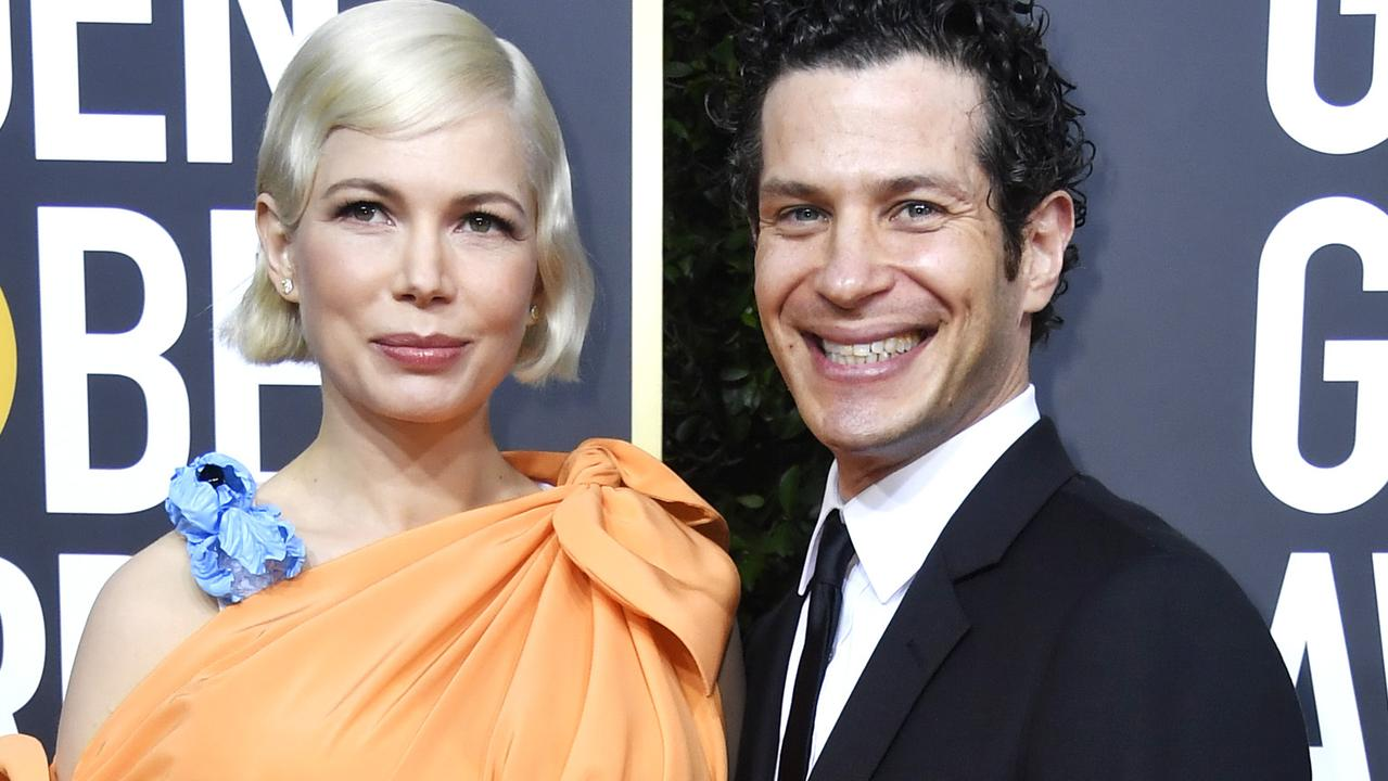 Michelle Williams and Thomas Kail attend the 77th Annual Golden Globe Awards on January 05, 2020. Picture: Getty Images.