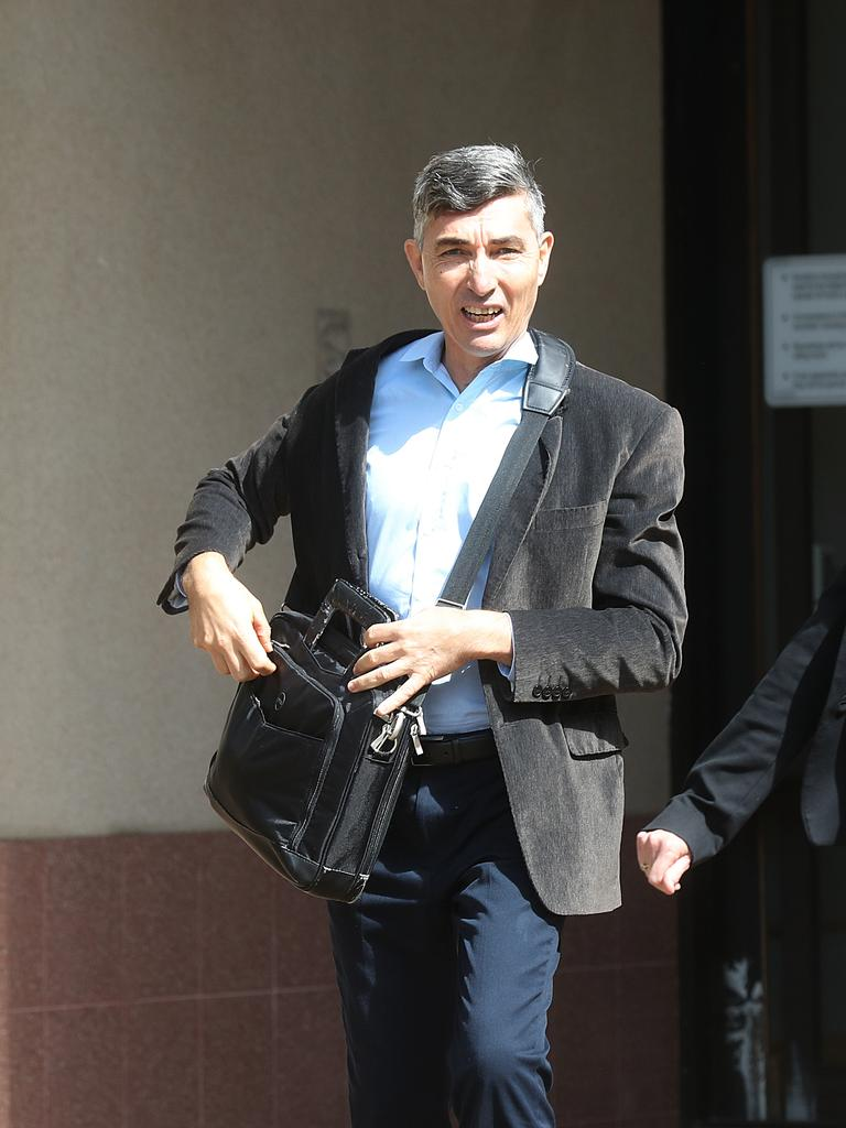 Ports North executive Alan George Vico leaves the court. PICTURE: STEWART McLEAN