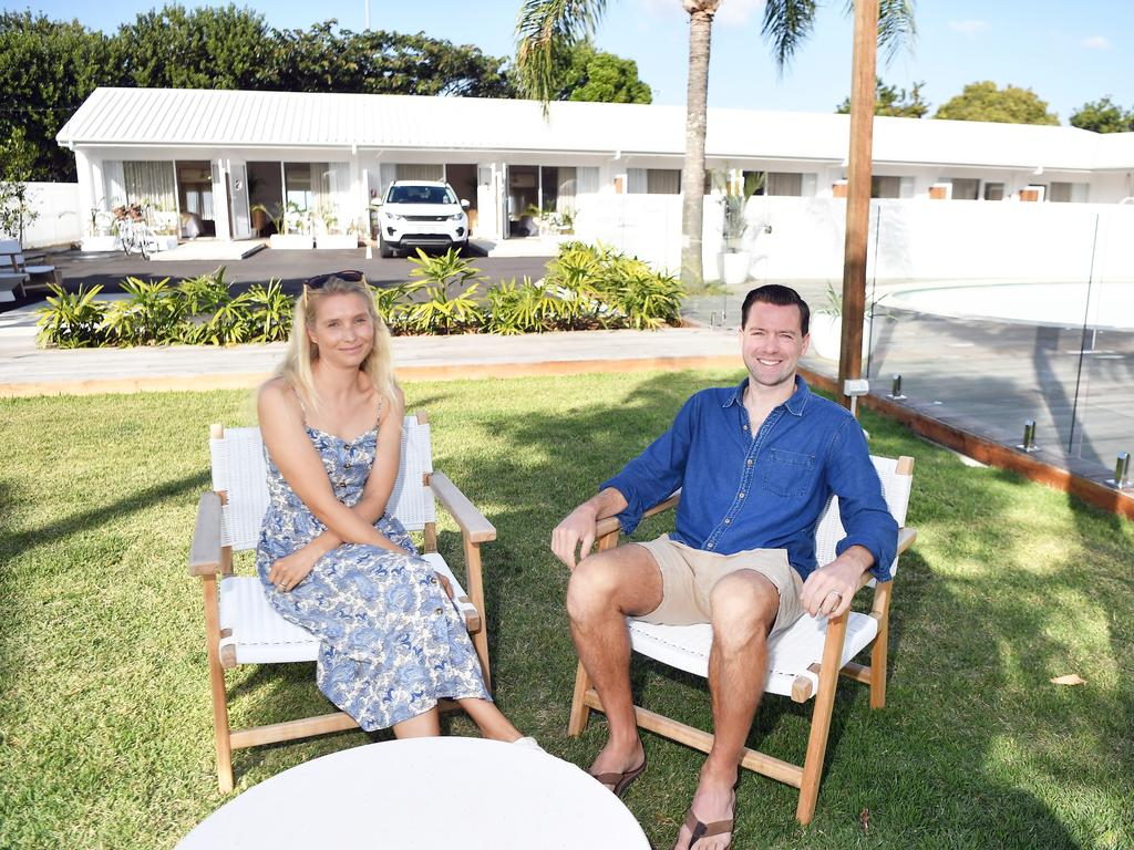 Lucy and Andrew Pink have transformed an old rundown motel into the Loea Boutique Hotel on Bradman Ave in Maroochydore. Photo Patrick Woods