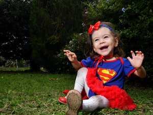 Super hero toddler Stella thriving despite the odds