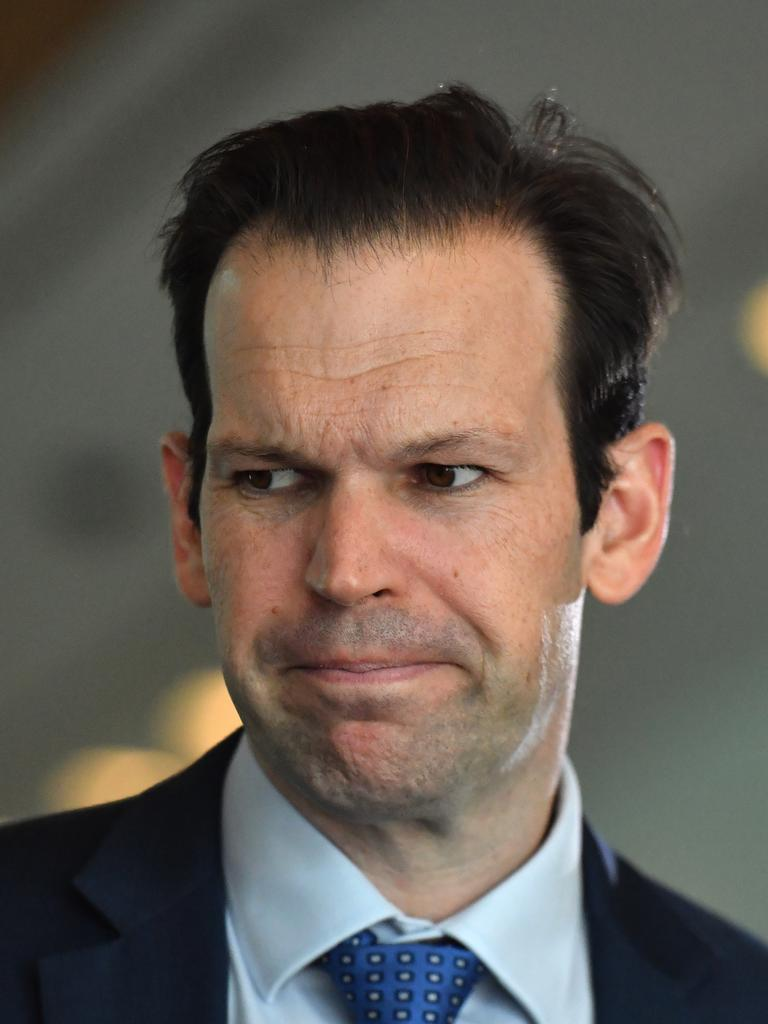 As was Nationals Senator Matt Canavan. Picture: Mick Tsikas
