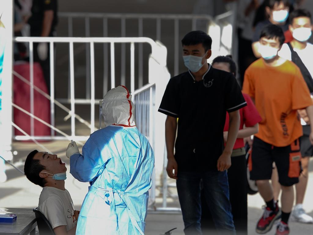A person is tested in Beijing. Picture: Getty