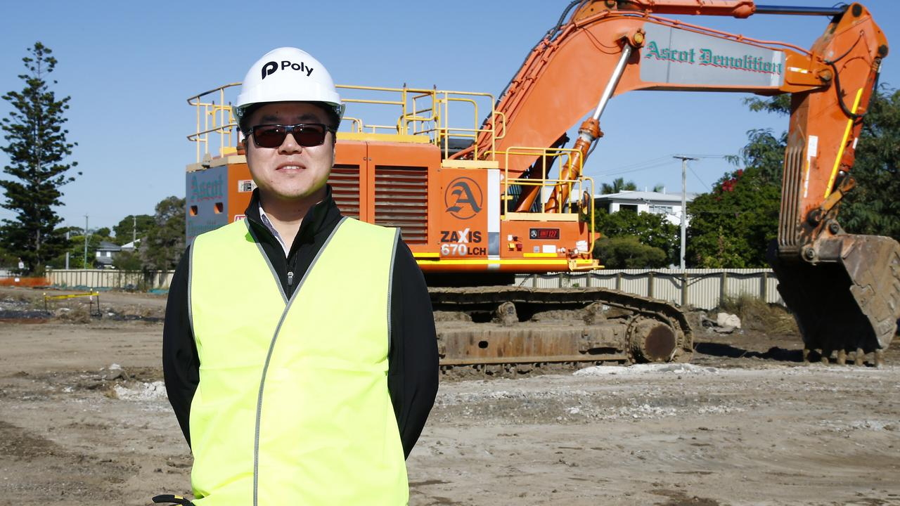 Poly QLD executive director Xiaowei Xue at the development site in Ascot. Picture: Tertius Pickard