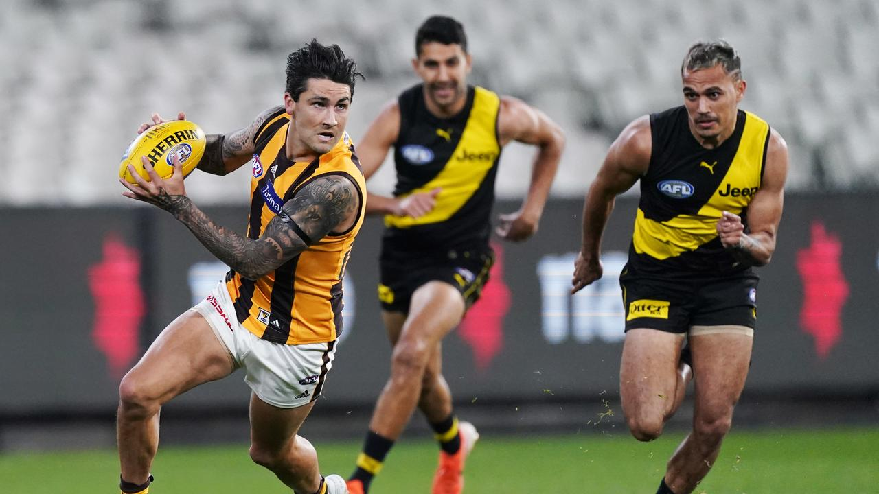 Richmond have been smashed by Hawthorn. Picture: AAP Image/Michael Dodge