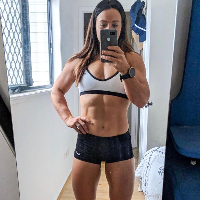 Brisbane mum and CrossFit champion Kara Saunders has been dubbed the 'world's fittest mum'. Picture: Instagram/Kara Saunders