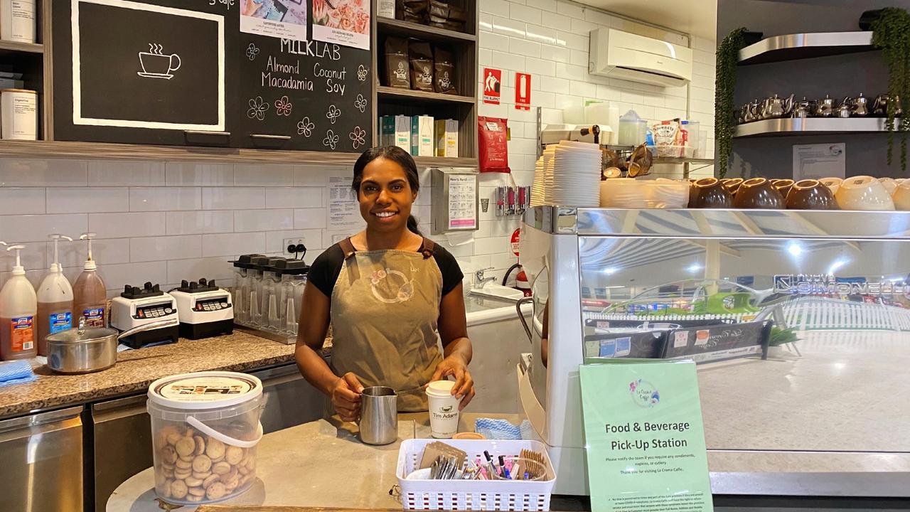 Suyen Kawatt at La Crema Cafe, Moranbah.