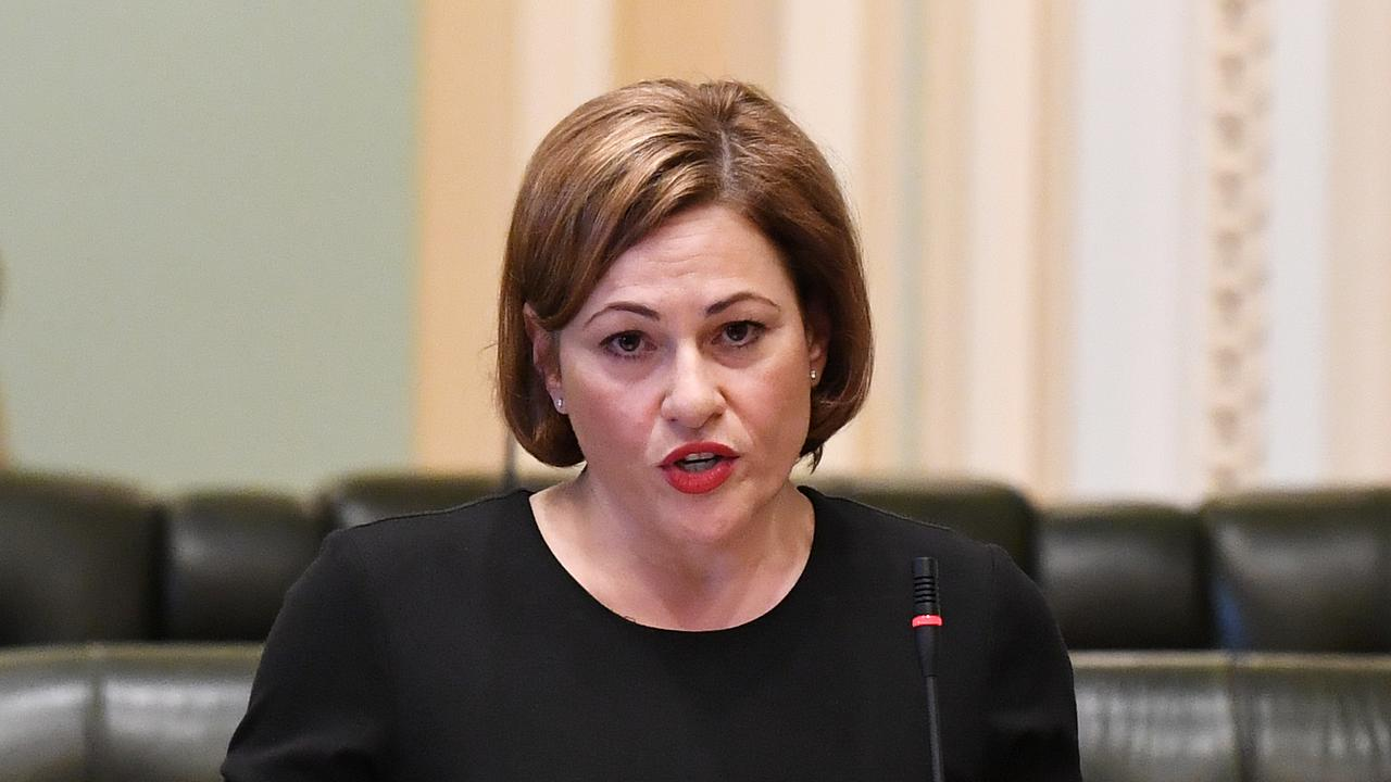 Jackie Trad speaking in Parliament this morning. Picture: AAP Image/Dan Peled