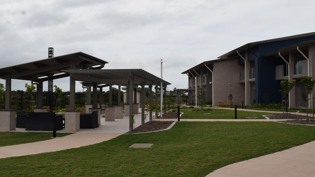 The new $30 million Ozcare Mackay Aged Care facility includes landscaped gardens. The garden area of the specialised dementia care wing has paths and grasses with different textures, as well as a clothesline and a mailbox for residents to receive mail. Picture: Heidi Petith