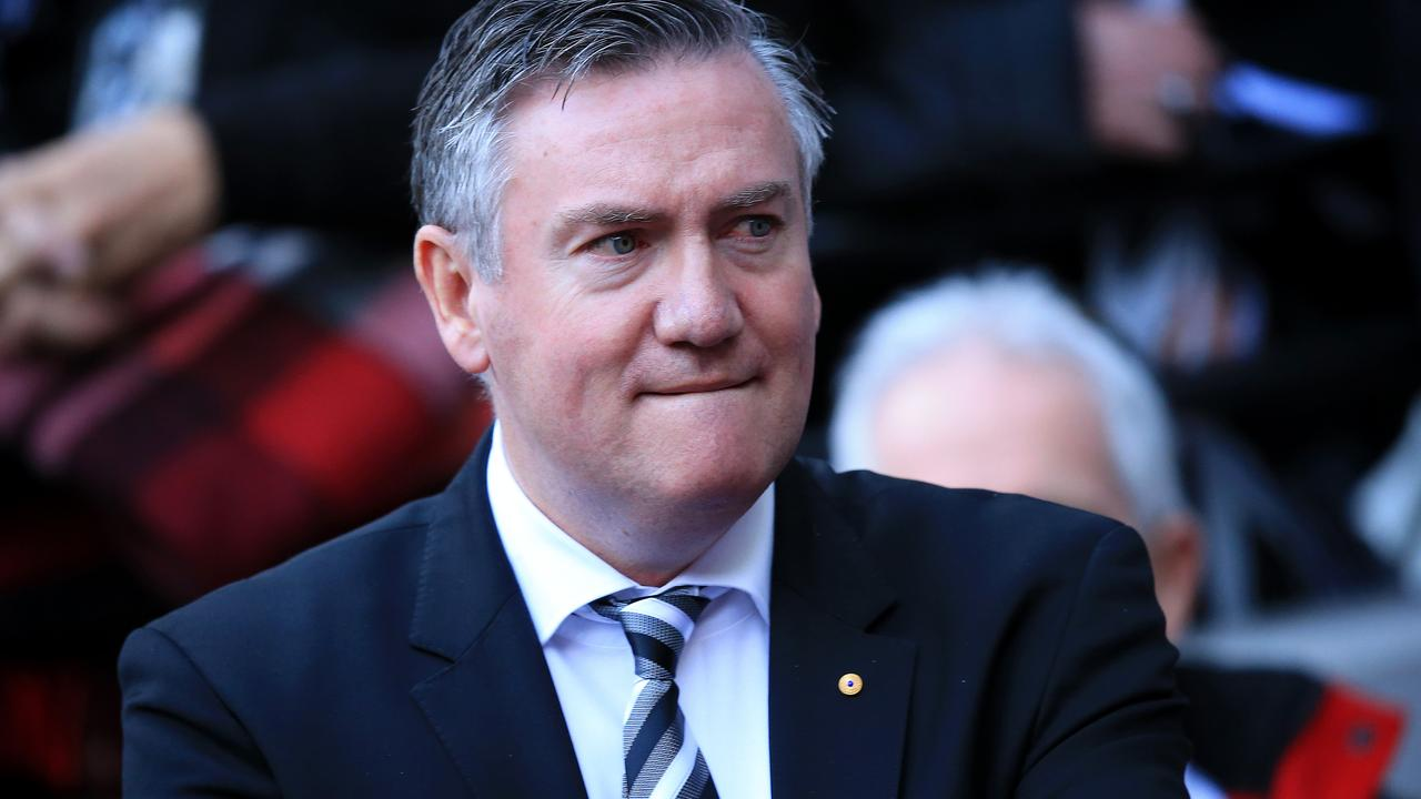 Eddie McGuire upset after the loss. Picture: Mark Stewart