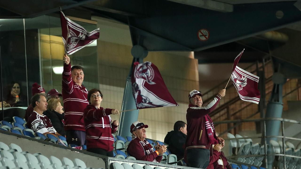 WELCOME BACK: Fans at the round 5 clash between Manly and the Broncos were restricted to corporate boxes.