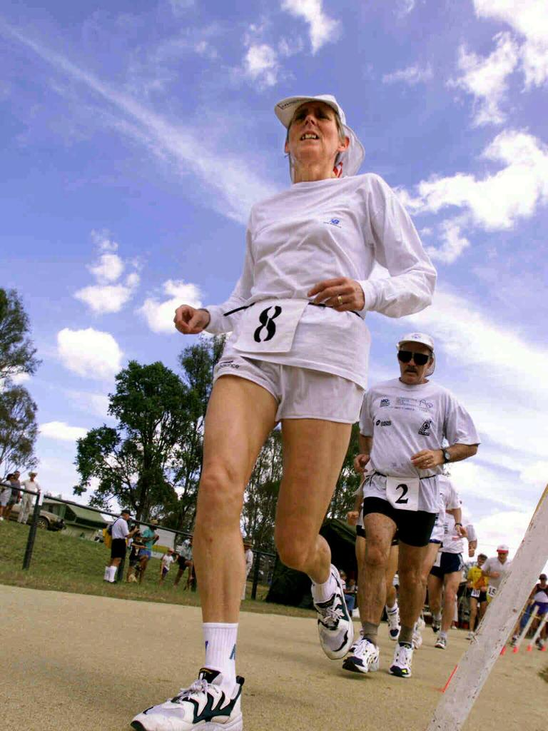 AROUND THE TRACK: Eleanor Robinson, during the International 1000 Miles Ultra-Marathon Championships at Nanango (Picture: Bruce Long)