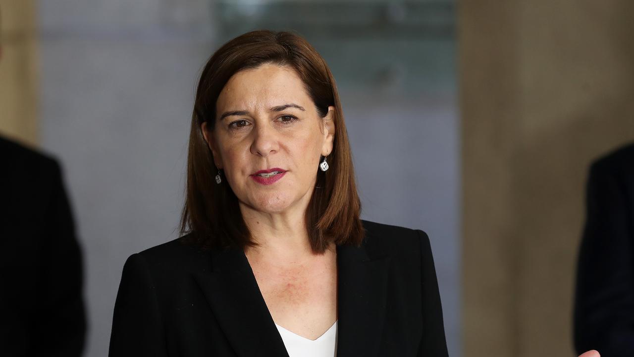 SURVIVOR: Opposition leader Deb Frecklington in parliament.