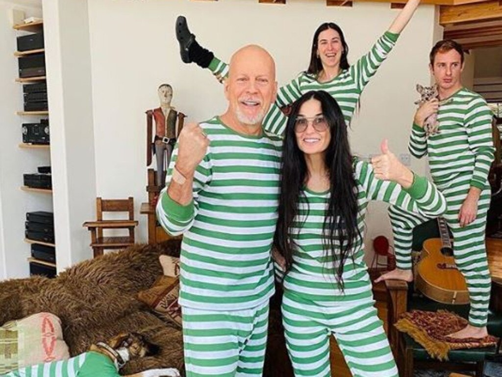 Bruce Willis and Demi Moore in coronavirus lockdown. Picture: Instagram