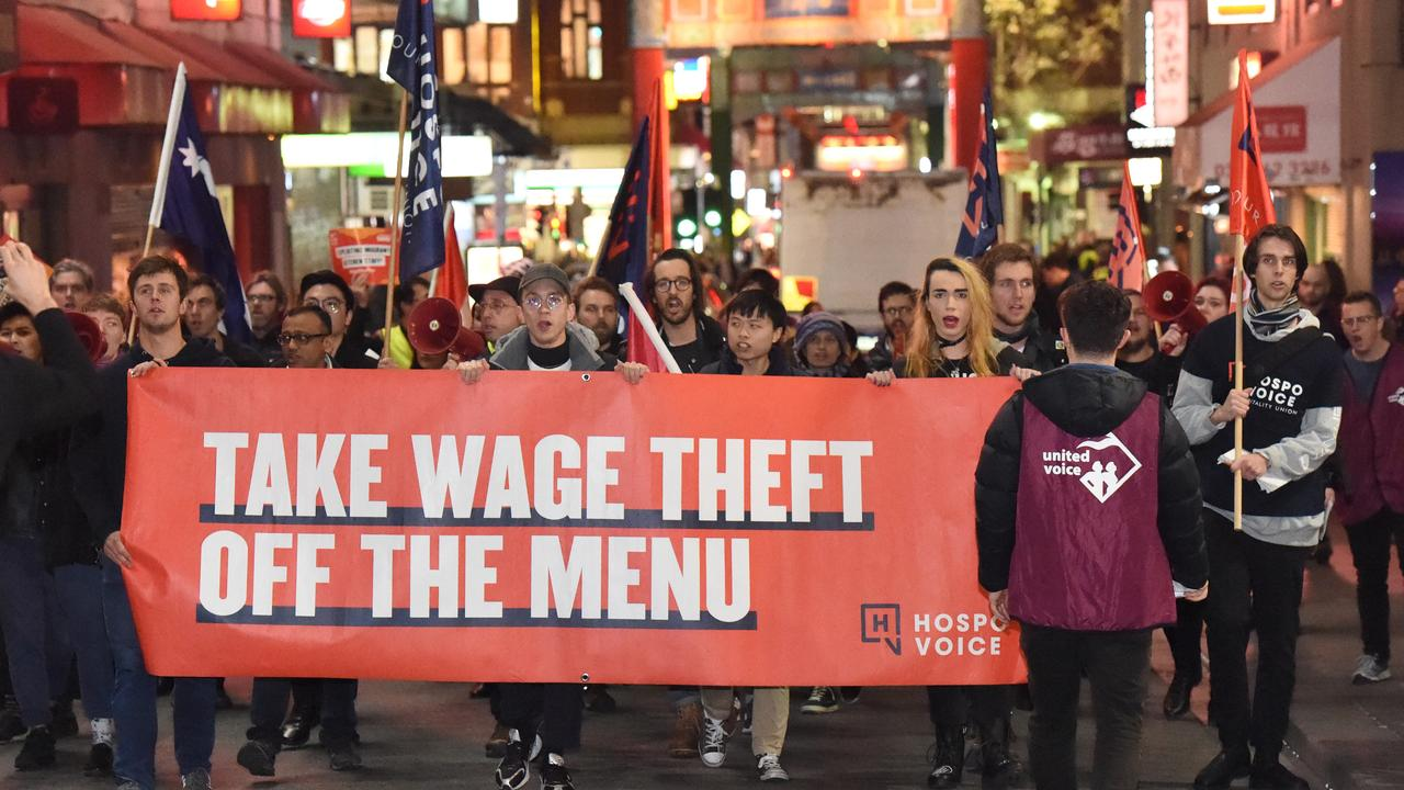 Hospo Voice is bringing its wage theft campaign to New South Wales after successfully lobbying for new legislation in Victoria. Picture: Tony Gough