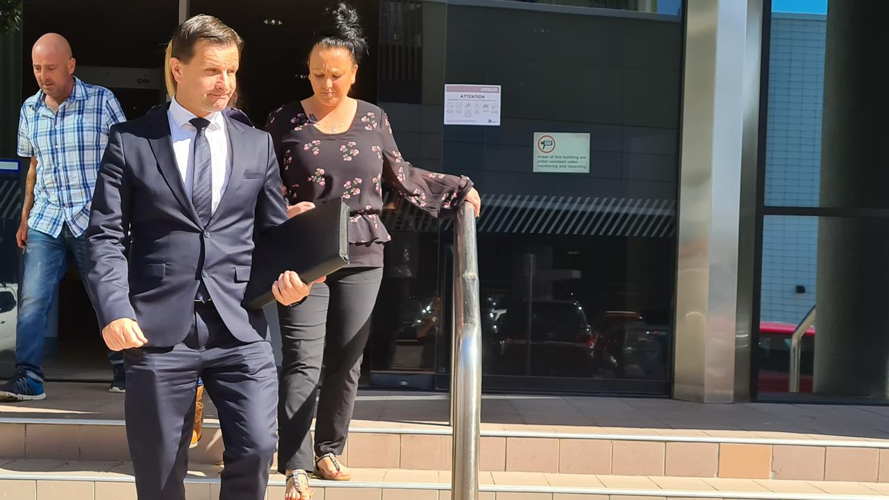 Charlotte Price (pictured with lawyer Jason Phister) pleaded guilty to three charges in the Maroochydore Magistrates Court today. Photo: Lucy Rutherford