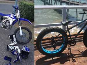Dirt bike, riding gear stolen from Pialba storage shed