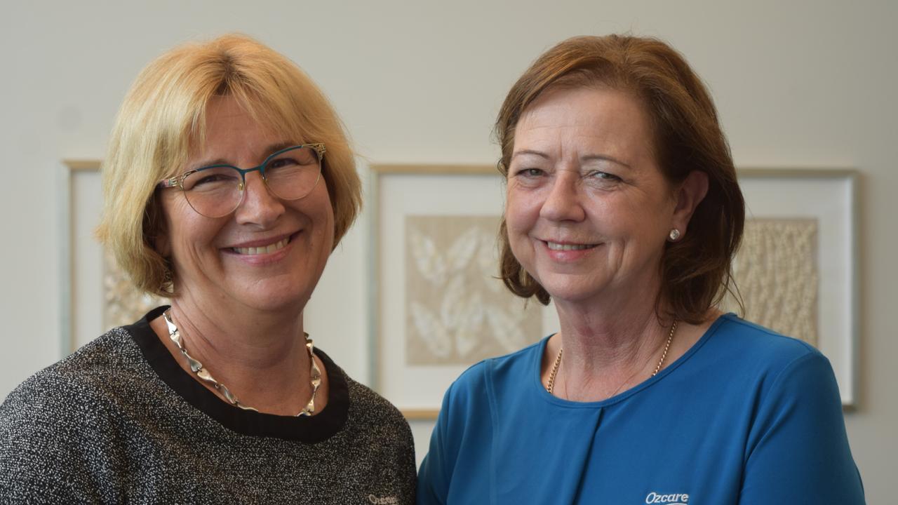 Mackay Ozcare facility manager Anne Crowley and Ozcare head of aged care Lanna Ramsay at the new Ozcare Mackay facility. Picture: Heidi Petith