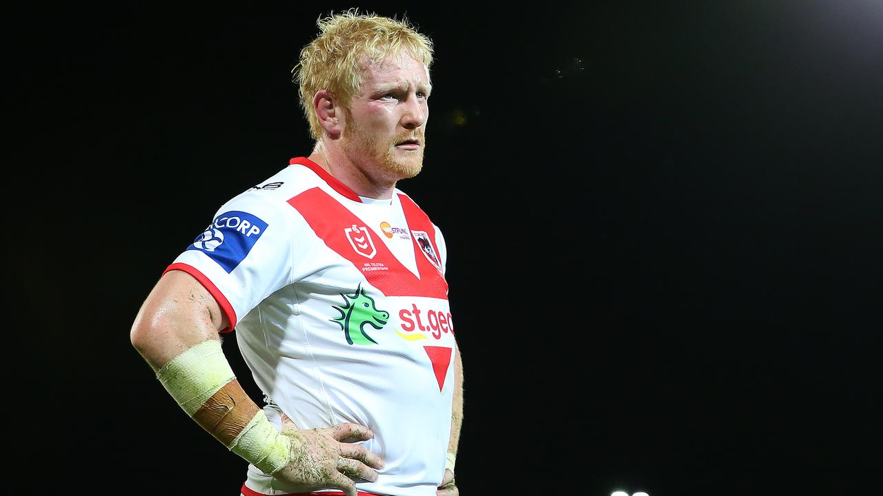 James Graham could be on his way out of the Dragons. Picture: Jason McCawley/Getty Images