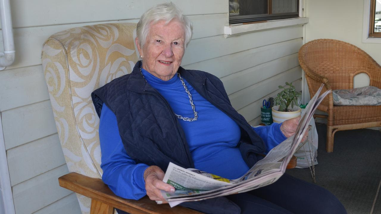 GOLDEN COPY: Warwick resident Daree Foster shares some of her favourite memories of the WDN from the past 60 years. Picture: Jessica Paul