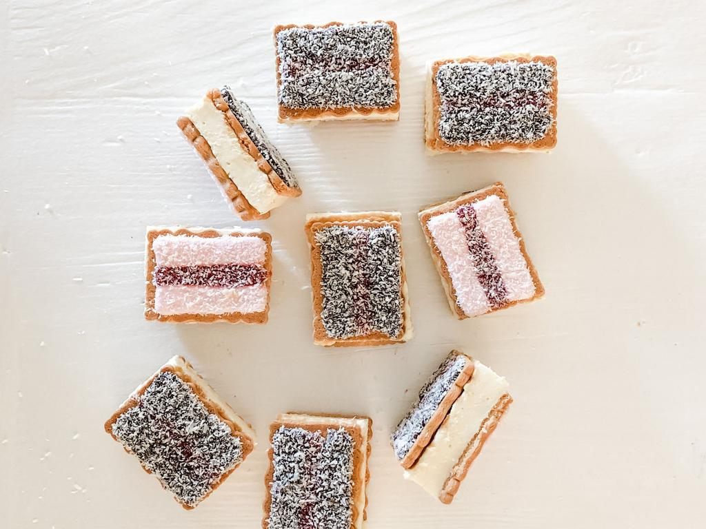 A new take on old favourites – Iced Vovo Lamington Cheesecake Slices