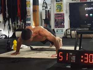 Accountant smashes push-up world record attempt