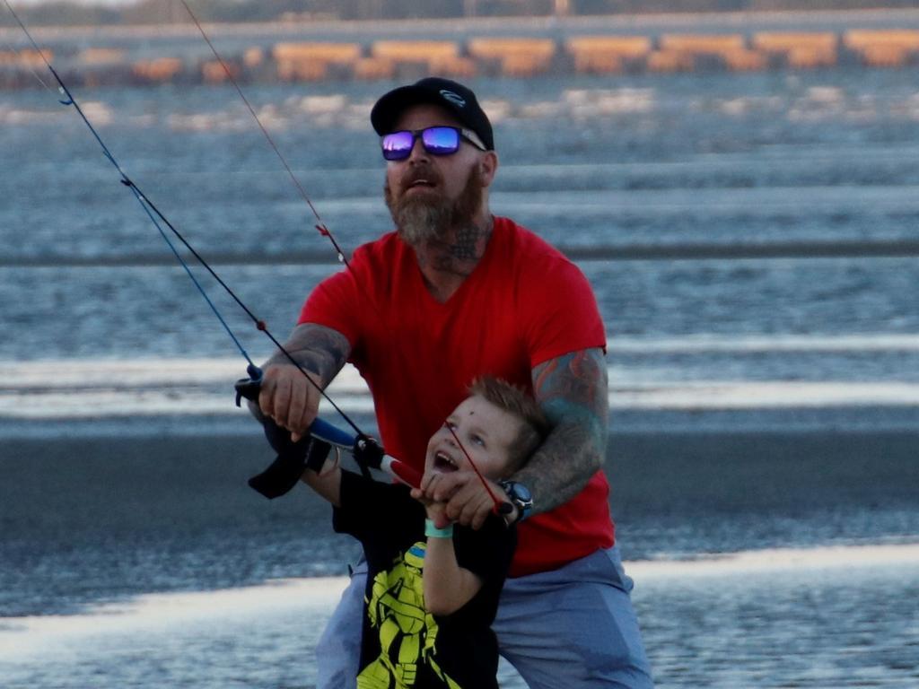 Quinton with son Seth.